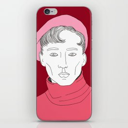 Béret rose iPhone Skin