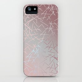 Soft Blue, Pink and Peach Skintone Tie Dye Hues with 90s Confetti Minimal Pattern Home Goods iPhone Case