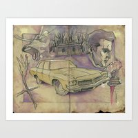 evil dead Art Prints featuring EVIL DEAD by Todd Spence