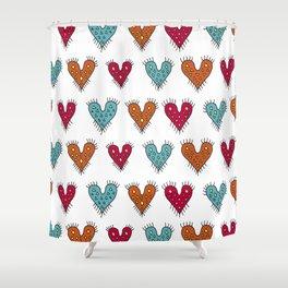 Fringed boho hearts♡ Shower Curtain