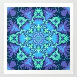 The Aqua Star Mandala Art Print