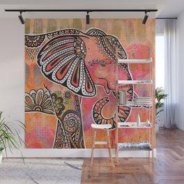 """Ajani"" | African Elephant Wall Mural"