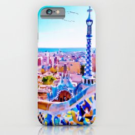 Park Guell Watercolor painting iPhone Case