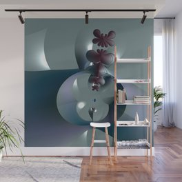 Life sprouting in the silence of an abstract fantasy Wall Mural