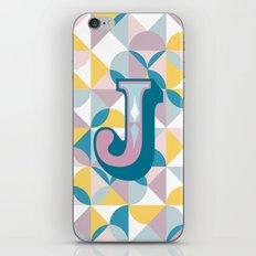 Letter J iPhone & iPod Skin