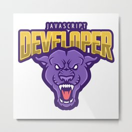 Powerful JavaScript Developer Metal Print