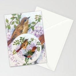 Porcelain Birds Stationery Cards