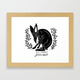 The Blind Jack Rabbit Framed Art Print