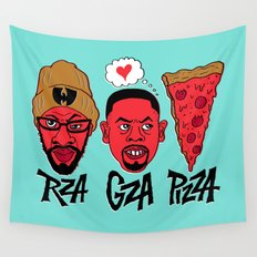 RZA, GZA, PIZZA Wall Tapestry