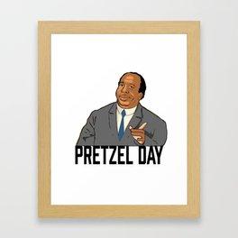 Pretzel day Stanley Framed Art Print
