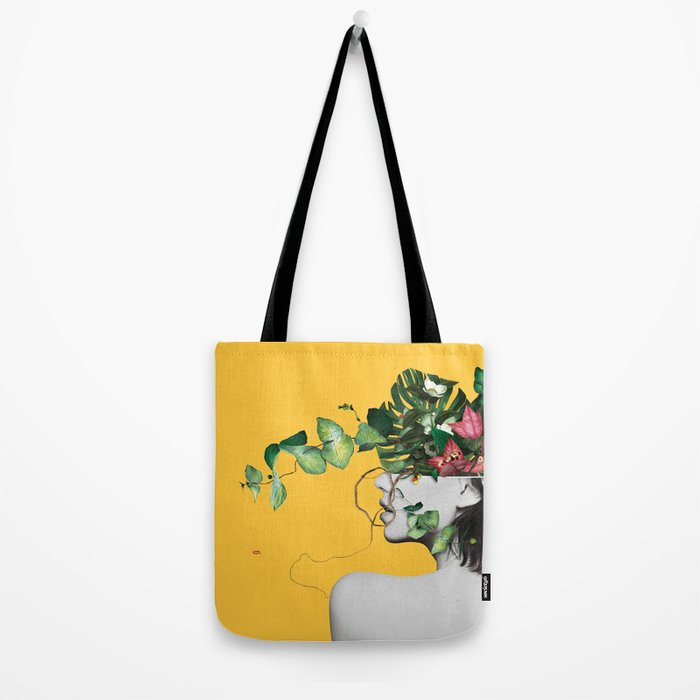 Lady Flowers Tote Bag