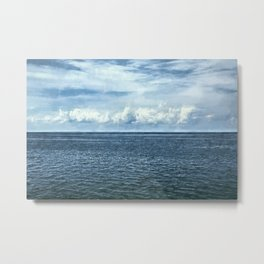 Clouds over Lake Milacs Metal Print