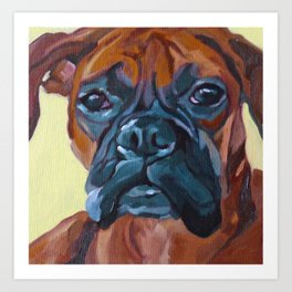 The Boxer Dog Lillibean Art Print