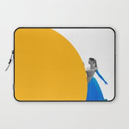 Bardot and the Yellow Circle Laptop Sleeve