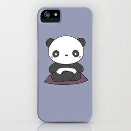 Kawaii Cute Yoga Panda iPhone Case