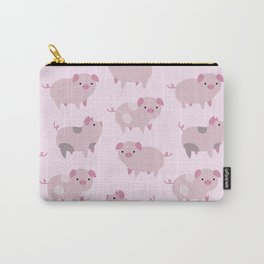 Cute Pink Piglets Pattern Carry-All Pouch