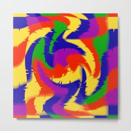 Abstract Red Blue Green & Purple Metal Print