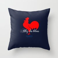 france Throw Pillows featuring France by Skiller Moves