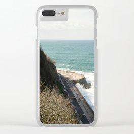 Waves in the coast of San Sebastian Clear iPhone Case