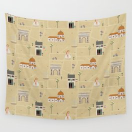 Florence Map Print Illustration Wall Tapestry