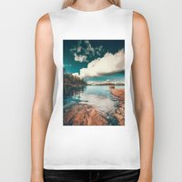 sunset Biker Tanks featuring Belle Svezia by HappyMelvin