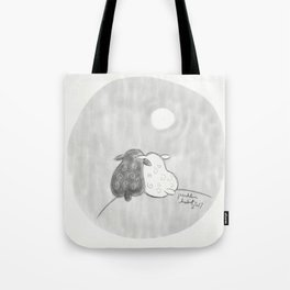 Two Sheep on a Hill Tote Bag