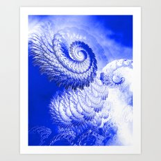 Rage of the storm Art Print