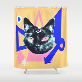 Gat Attack Shower Curtain