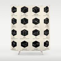 zodiac Shower Curtains featuring Zodiac by Dorothy Leigh