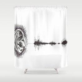 Hearing Damage Shower Curtain