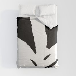 Green Fern White and Black Comforters