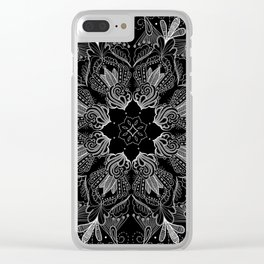 Black Mandala 2 Clear iPhone Case