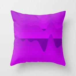 Purple Mountains Throw Pillow