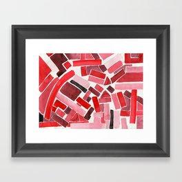 warm color pattern Framed Art Print