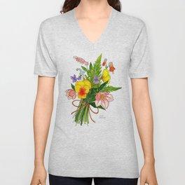 Spring Flower Bouquet Unisex V-Neck