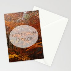 I Have the Desire to Explore Inspirational Color Photo Stationery Cards