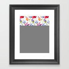 Floral Pattern Framed Art Print