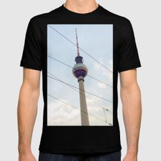 Berliner Fernsehturm Mens Fitted Tee MEDIUM Black