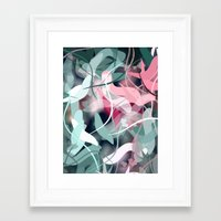 novelty Framed Art Prints featuring Spring Birds by Moody Muse