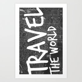 Travel The World Map Design Art Print