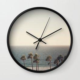 Golden Hour over Pacific Coast Highway Wall Clock