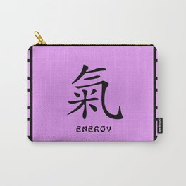 """Symbol """"Energy"""" in Mauve Chinese Calligraphy Carry-All Pouch"""