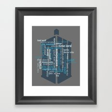 Doctor Who: Friends and Enemies Framed Art Print
