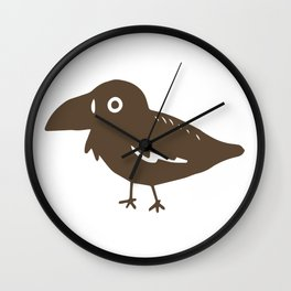 Cute Crow Wall Clock