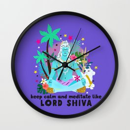Lord Shiva meditates Wall Clock