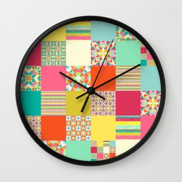 Patchwork Cheater Wall Clock