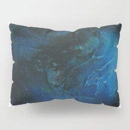 Blue Planet on White Background Pillow Sham