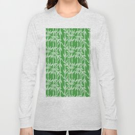Bamboo Rainfall in Sullivan Green/White Long Sleeve T-shirt