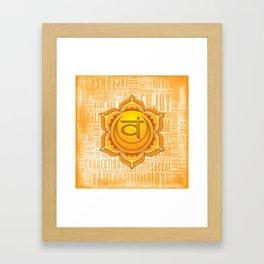 Sacral Chakra Framed Art Print