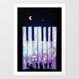 Harmony In The Night Art Print